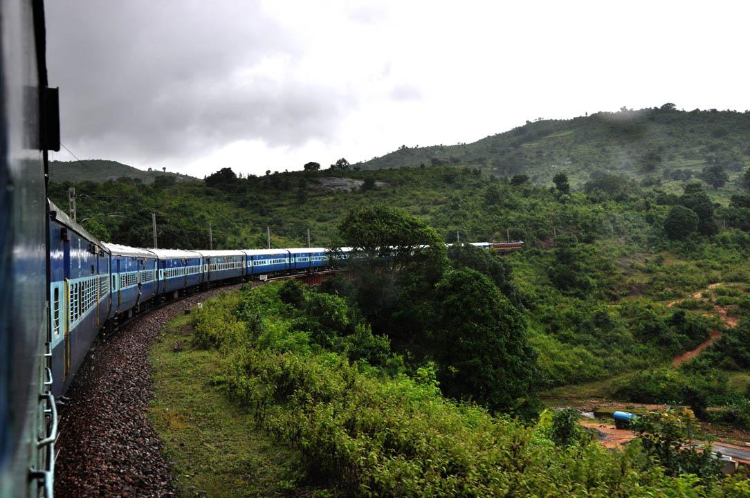 Photo prise d'un train